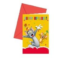 Tom And Jerry Party Supplies (Tom and Jerry Party Invitations)