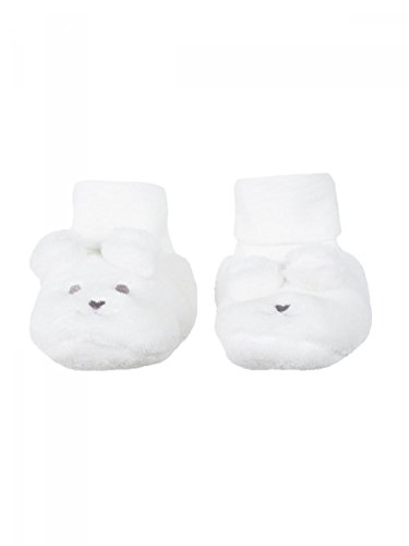 Absorba–Zapatillas nacimiento forro polar blanca bebé niña Absorba Beige
