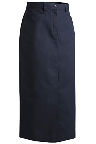 (Edwards Ladies' Blended Chino Skirt-Long Length Size 6 Navy)