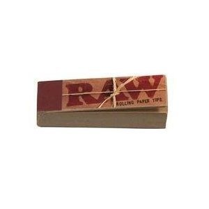 Raw Rolling Papers Unbleached Filter Tips 10 Pack   500 Tips