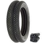 Metzeler Block C Tire Set - Honda CB350/360/400F CJ/CL360 - Tires and (Block Tire Tube)