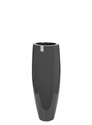 Le Present J20090.095 Grey Bullet Fiber Pot44; 35.4 x 13.4 in. by Le Present