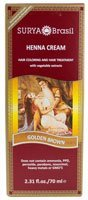 Golden Brown Henna - Surya Henna Cream Golden Blonde -- 2.31 fl oz