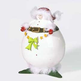 Patience Brewster Christmas Krinkles Snow Elf Cookie Jar Retired - 56-38185KRINK