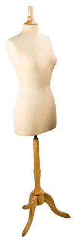 "NAHANCO P26 Ladies' European Dress Form - Size 8 29"" High 7/8"" Flange"