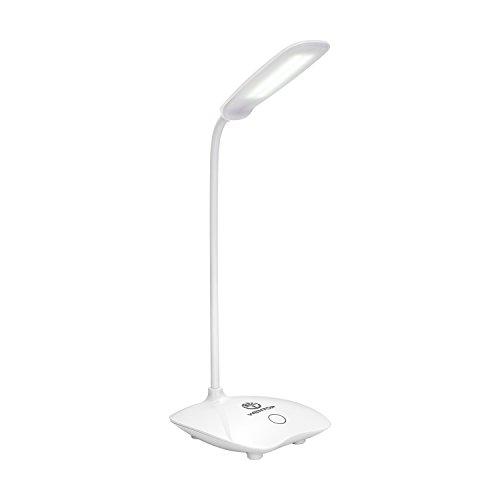 WenTop LED Schreibtischlampe,leselampe,100% natürliches Licht, portable tischlampe,3 Level Dimmer Touch Control, Energiespar-Tischlampe für das Studieren, Büro, kampieren oder reisen Ect. - weiß