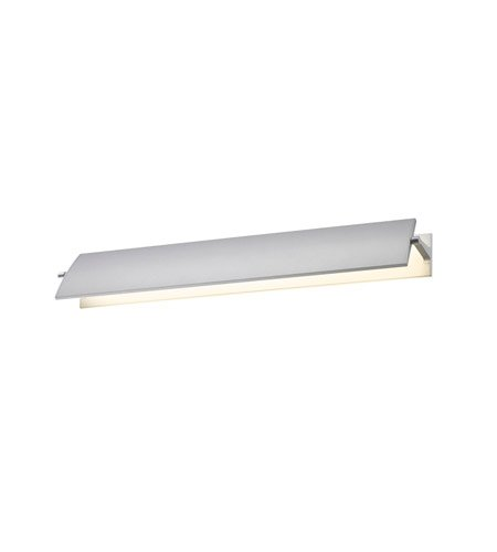 Sonneman 2702.16, Aileron Wall Vanity Lighting, 1 Light LED, Aluminum (Sonneman Box)