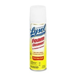 Professional Lysol 02775CT Disinfectant Foam Cleaner, 24oz Aerosol, (Aerosol Foam)