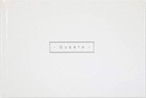 (White Leather Guest Book)