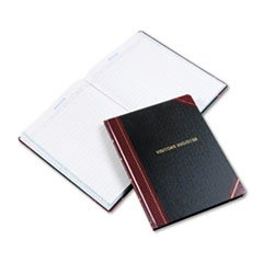 Boorum & Pease 806 Visitor Register Book, Black/Red Hardcover, 150 Pages, 10 7/8 x 14 1/8
