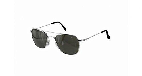 American Optical Sunglasses - Flight Gear Original Pilot w/ Wirespatula Temples / Frame: Silver w/ Wire Spatula Temples Lens: Grey (55 - Optical Sunglasses American