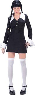 [Womens Addams Family Costume - Wednesday (M/L (size 10-14)] (The Addams Family Wednesday Costumes)
