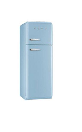 Smeg FAB30RAZ1 Independiente 293L A++ Azul nevera y congelador - Frigorífico (293 L, SN-T, 3 kg/24h, A++, Compartimiento de zona fresca, Azul)