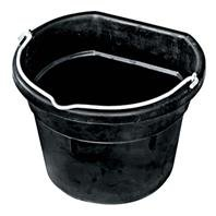 Buckets Heated Horse (DPD Heated Flat-Back Rubber Bucket - 4.5 Gallon)