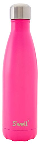 S'well Insulated Double Walled Stainless Steel Water Bottle, 17 oz, Bikini Pink