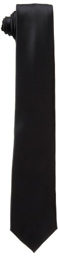 Dockers Neckwear Men's Big Boys' Solid Tie,Black,One Size (Neck Ties Silly)
