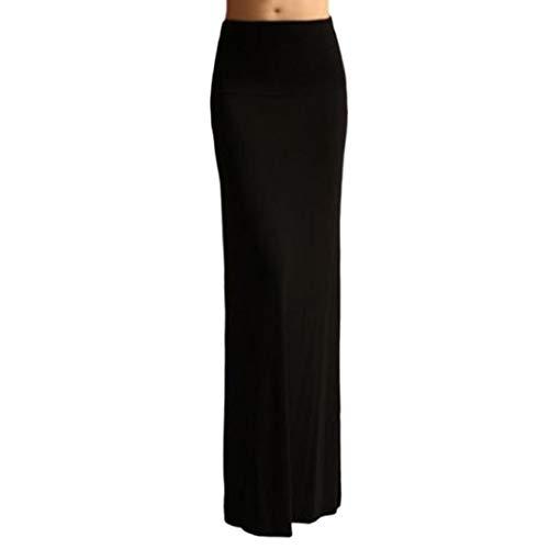 Femmes Rayon Pure Jupe Span Couleur Noir Jupe Femme Droite Sixcup Taille pour Jupe Maxi Haute lasticit Bodycon qnYTztZ