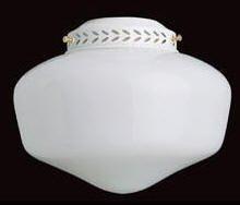 Concord Fans YG-9CG-S-BB Lightkit 1-13W Fluorescent 8-1/8 Schollhouse Glass Fan Light Kit Bb, Polished Brass