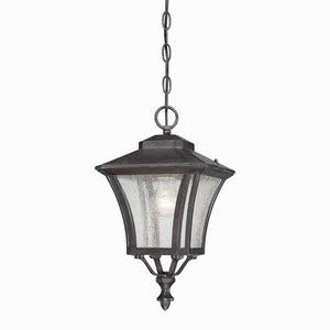 Acclaim 6016BC Tuscan Collection 1-Light Outdoor Light Fixture Hanging Lantern, Black Coral ()