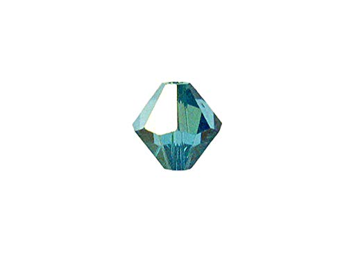 Swarovski Crystal, 5328 Bicone Beads 4mm, Indicolite AB, Wholesale Packs | Pack of 500