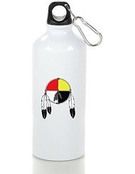 Medicine Wheel Cool Aluminum Sports Water Bottle - 400/500/600ML 400ml