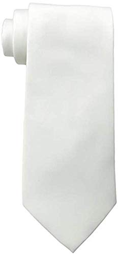 K Alexander Men's Solid WHITE Tie