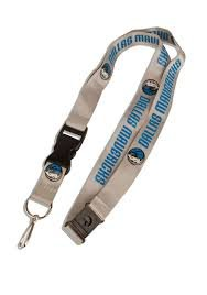 NBA Dallas Mavericks Team Color Lanyard, 22-inches, Gray (Key Mavericks)