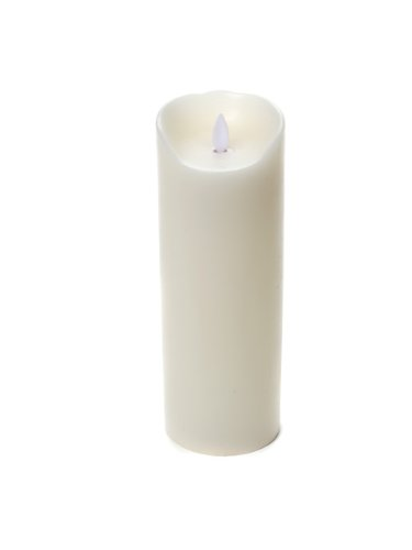 Reallite 3x9-Inch Synthetic Flameless Candle, Ivory 24-1003
