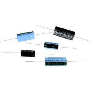 2.2uf 50V Axial Lead Electrolytic Capacitor, 85deg C, 5 x 12mm (10 pieces)