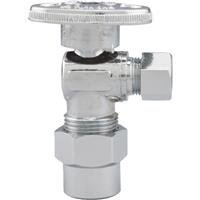 Watts LFPBQTC-270 Quarter Turn Angle Valve, 1/2-Inch CPVC by 3/8-Inch COMP by ()