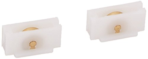 (Slide-Co 171490 Sliding Window Roller Assembly with 3/8-Inch Flat Brass Wheel,(Pack of 2))