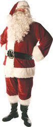 Men's Deluxe Santa Claus Costume Red One (Red Usa Deluxe Dress Up Set)