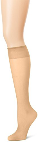 Grandeur Hosiery Women's Ladies Plus Size Queen Sheer Support Knee High Stockings 3-Pack Nude 3X (Plus Size Queen)