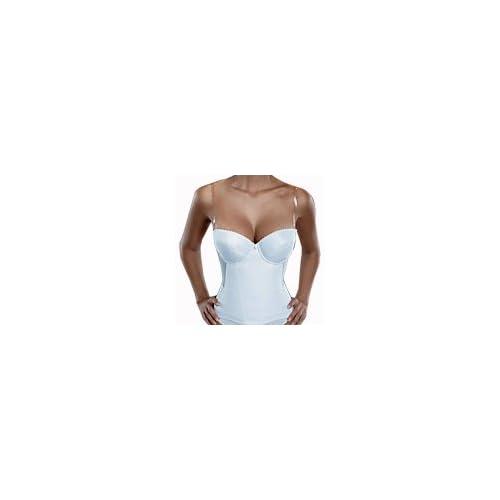 90bfeea3117 chic Flattering Me Low-Back Longline Bridal Bra Bustier 728, Ivory ...