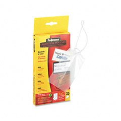 Fellowes Luggage Tag Pouch - Fellowes Luggage Tag Laminating Pouches, 3mm, 4w x 2d, 25/pack