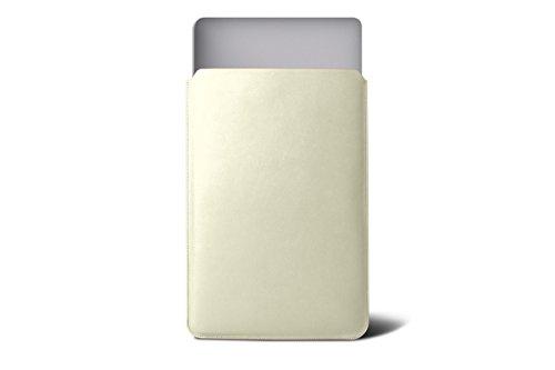 Lucrin - Fodero di custodia per MacBook Air 13 inch Retina Display - Vacchetta liscia - Viola Blanco Crudo