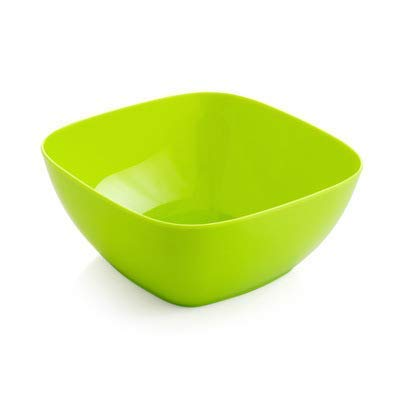 EXQUISITE Salad Bowl Square Plastic Fruit Bowl Home Kitchen Sink Coffee Table Candy Dish Salad Bowl , Green Bowls Set