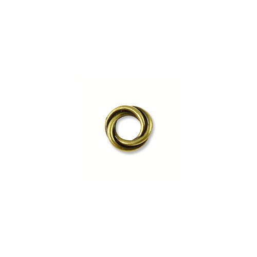 Bead Twisted Spacer 8mm Pewter Antique Brass Plated (1-Pc) Twisted Spacer