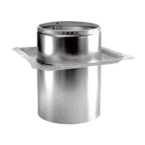 Chimney 69672 6 in. Dura-Vent Dura-plus Firestop Radiation Shield- Galvalume (Stove Pipe Through Wall)