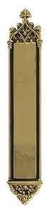 Gothic Push Plate Finish: Highlighted Brass