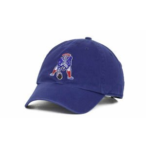 '47 Brand. New England Patriots Clean Up Cap - Throwback Logo - Royal Blue
