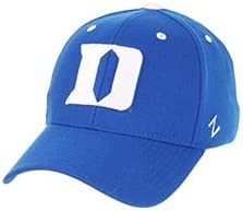 Duke University DU Dukies Blue Devils Top Black DH Adult Mens//Boys Flex Fitted Baseball Hat//Cap Size Medium 7 1//8 or 7 1//4