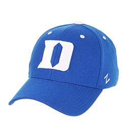 (Zephyr Duke University DU Dukies Blue Devils Top Blue DH Adult Mens/Boys Flex Fitted Baseball Hat/Cap Size Medium Large)