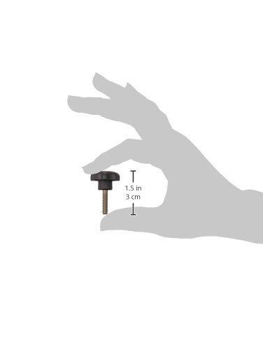 Bright Yellow Cap Color Kipp 06220-41017X20 Black Thermoplastic//Steel Star Grip Style L 32 mm Height 50 mm Diameter Pack of 10 20 mm Screw Length Metric M10 External Thread