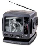 """Jwin Jvtv1010B 5.5"""" B&W Ac/Dc Portable Tv With Am/Fm Radio (Black) """