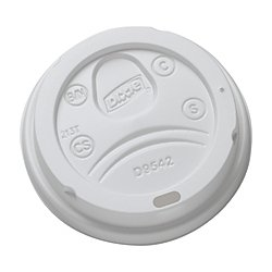 Dixie Plastic Dome Lids (Dixie 9542500DXCT White Dome Lid Fits 10-16oz Perfectouch Cups, 12-20oz Hot Cups, WiseSize (Case of 500))