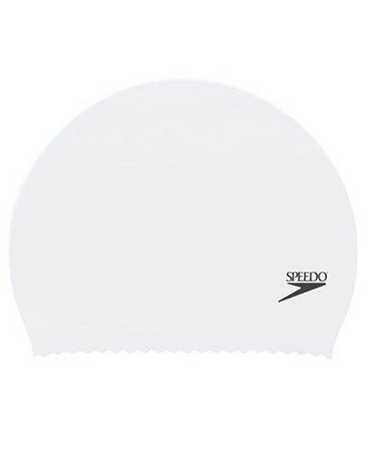Speedo Latex Junior Swim Cap, White, One - Swim Cap White