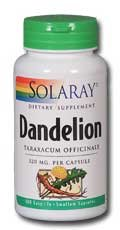 Solaray Dandelion Root Capsules, 520 mg, 100 Count