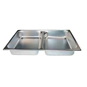 Winco Stainless Steel Divided Food Pans with Food Pan Covers Set