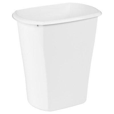 Sterilite 10528006 5.5 Gallon White Rectangular Waste -